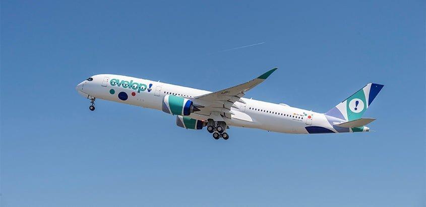 Primer Airbus A350 de evelop.