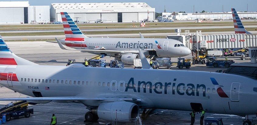 HUB de American Airlines en el Aeropuerto Internacional de Miami.