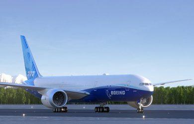Prototipo del primer Boeing 777X.