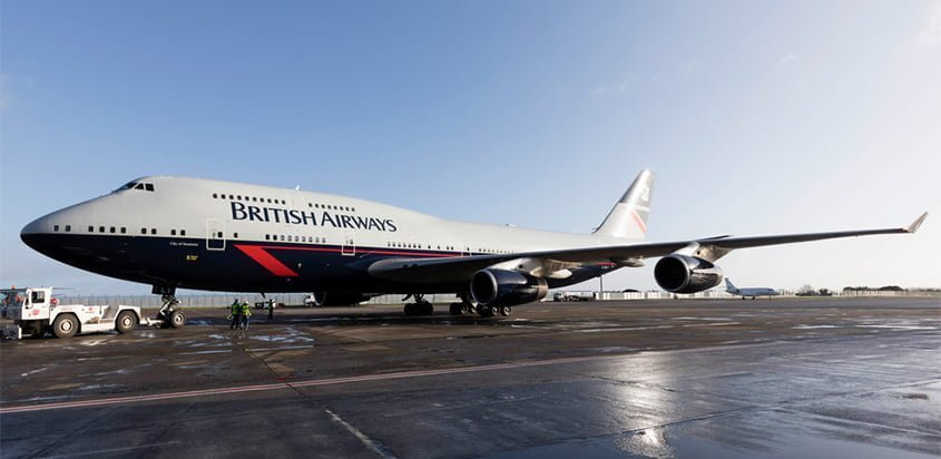 Boeing 747-400 de British Airways con livery Landor.