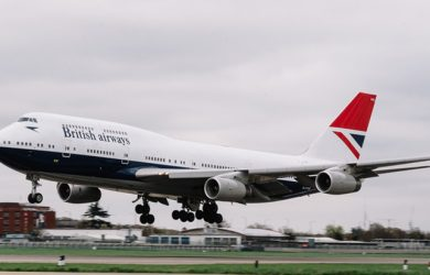 Boeing 747-400 de British Airways con livery retro de Negus.