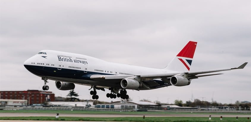 Boeing 747-400 de British Airways con livery retro de Negus.