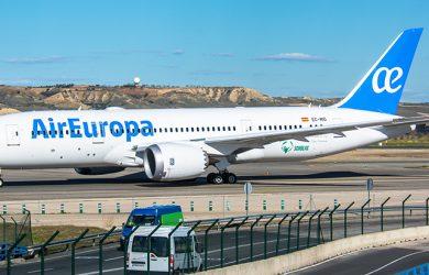 Boeing 787-8 de Air Europa en Madrid.