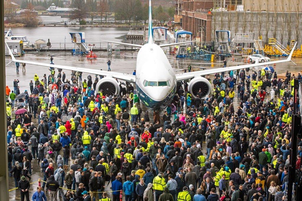 Presentación oficial del primer Boeing 737 MAX 9.