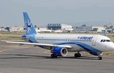 Airbus A320 de Interjet en Ciudad de México.