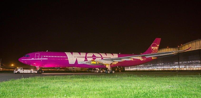 Airbus A330neo en colores de Wow Air.