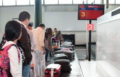 Equipaje de Avianca en el Puente Aéreo de Bogotá.