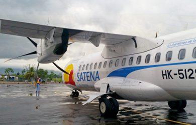 ATR 42 de SATENA en el Aeropuerto de San Vicente del Caguán.