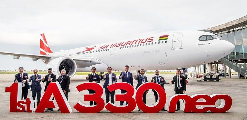 Entrega del primer Airbus A330neo de Air Mauritius.