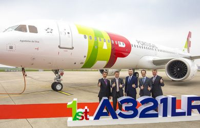 Primer Airbus A321LR de TAP Portugal.