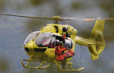 Airbus H145 atendiendo un desastre natural.