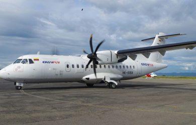 ATR 42 de EasyFly en plataforma.
