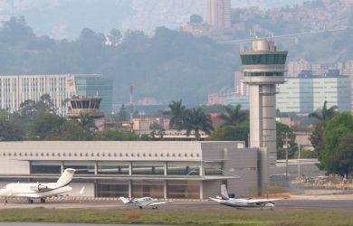 Vista del Aeropuerto Olaya Herrera de Medellín.