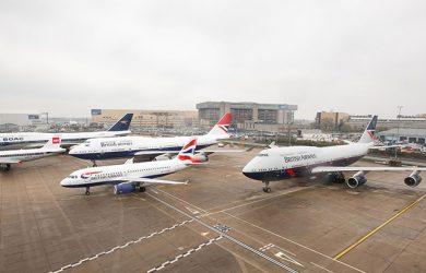 Liveries retro de British Airways a lo largo de su historia.
