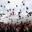 """Presentación del Airbus A320neo de Iberia llamado """"Amelia Earhart""""."""
