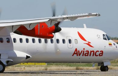 ATR 72-600 de Avianca en rodaje.