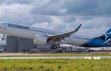 Primer Airbus A321LR de Air Transat.