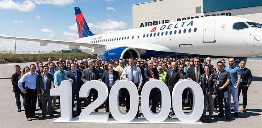 Entrega del avión No. 12.000 de Airbus.