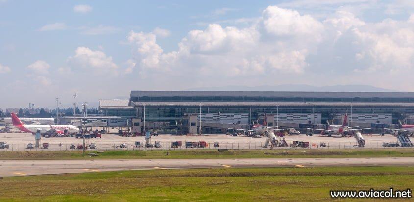 Plataforma de Avianca en el Aeropuerto Eldorado de Bogotá.
