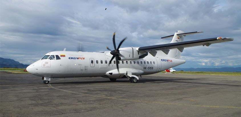 ATR 72-600 de EasyFly en plataforma.