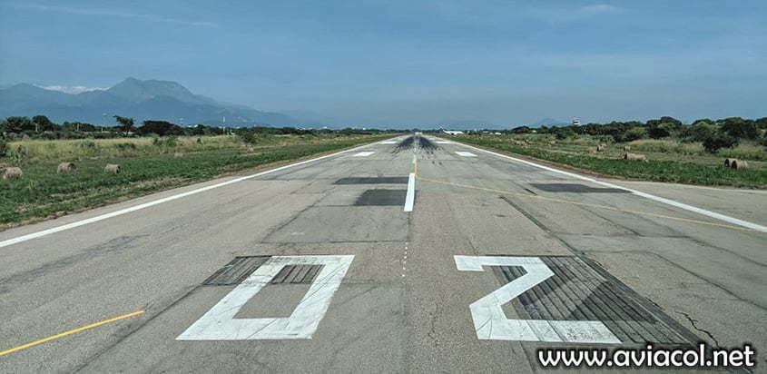 Pista del Aeropuerto Alfonso López Pumarejo de Valledupar.