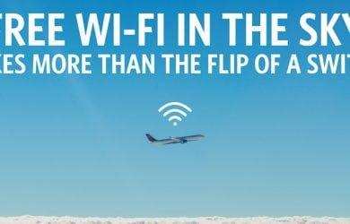 Pruebas de WiFi gratuito de Delta Air Lines.