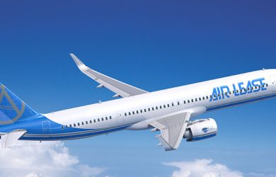 Prototipo de un Airbus A321XLR de Air Lease Corporation.