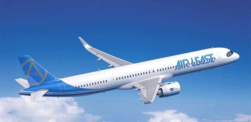 Prototipo de un Airbus A321XLR de Air Lease Corporation.