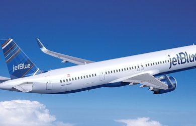 Prototipo de un Airbus A321XLR de JetBlue.