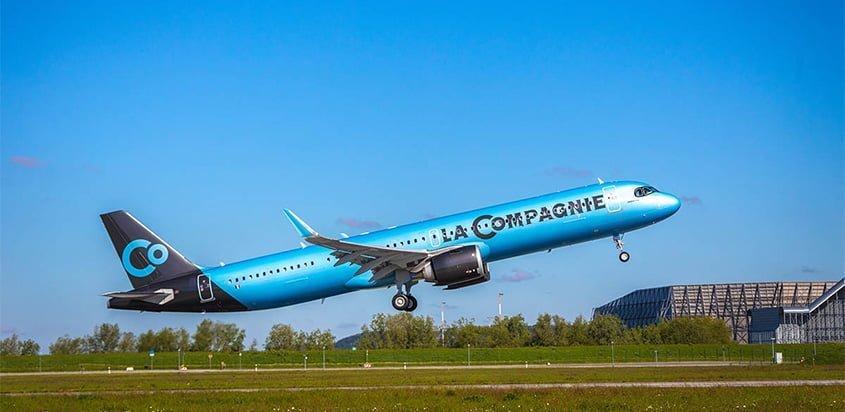 Primer Airbus A321neo de La Compagnie.