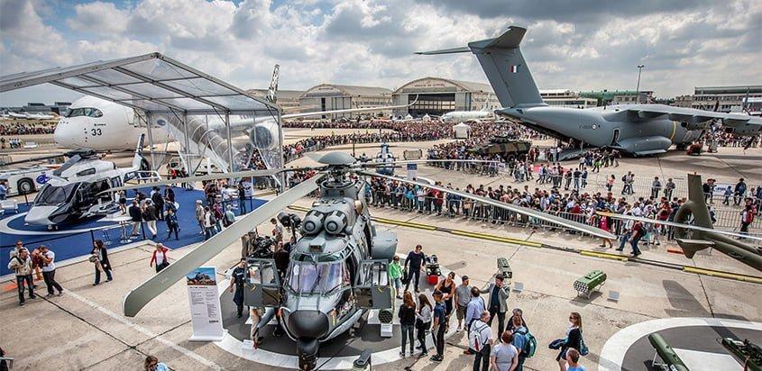 Exhibición de Airbus en el París Air Show 2019.