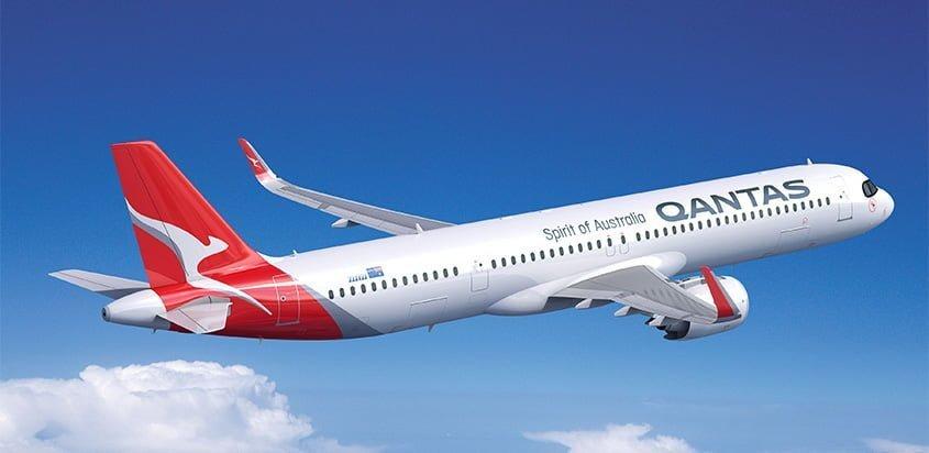Prototipo del primer Airbus A321XLR de Qantas.