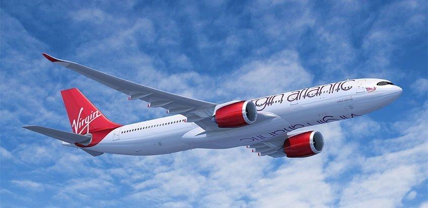 Prototipo de un Airbus A330neo de Virgin Atlantic.