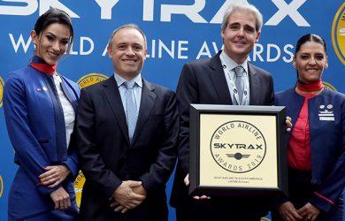 Reconocimiento a LATAM Airlines como Mejor Aerolínea de Sudamérica por Skytrax 2019.