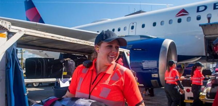 Manejo de equipaje de Delta Air Lines.