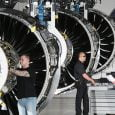 Producción de Pratt & Whitney, una de las filiales de United Technologies.