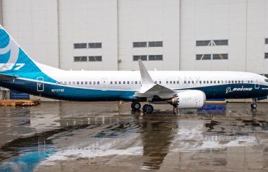 """Boeing 737 MAX 9 en su """"rollout""""."""