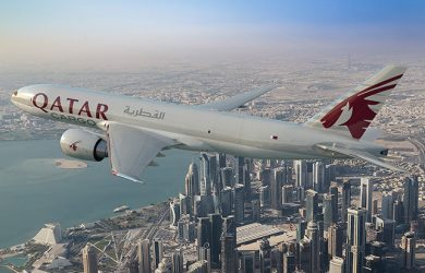 Boeing 777F de Qatar Airways.