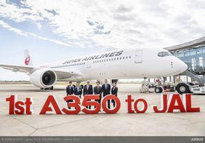 Primer Airbus A350 de Japan Airlines.
