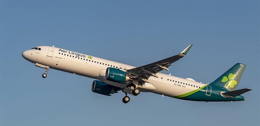 Primer Airbus A321LR de Aer Lingus,