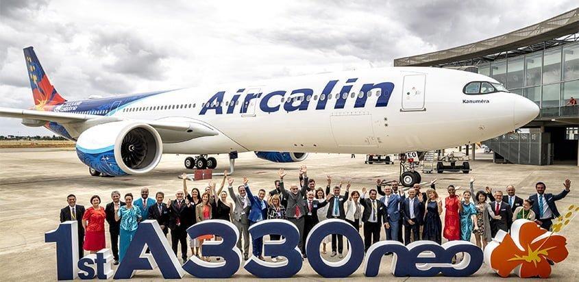 Entrega del primer Airbus A330neo a Aircalin.
