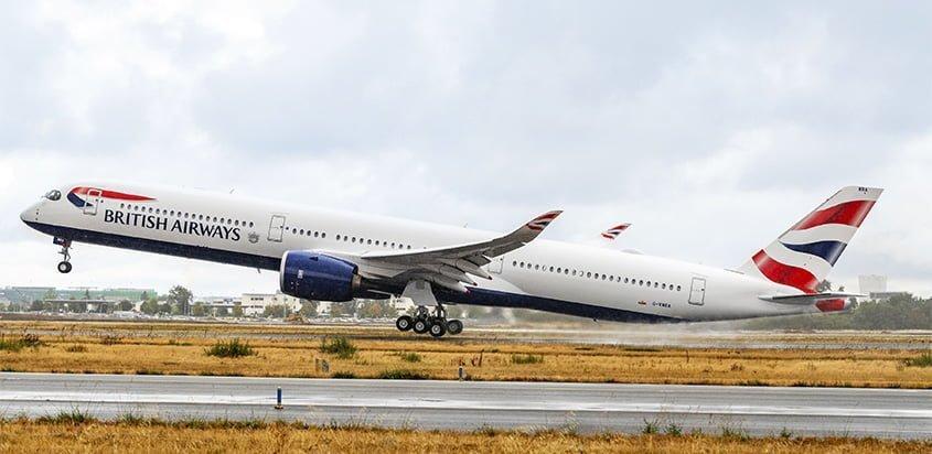 Primer Airbus A350-1000 de British Airways.