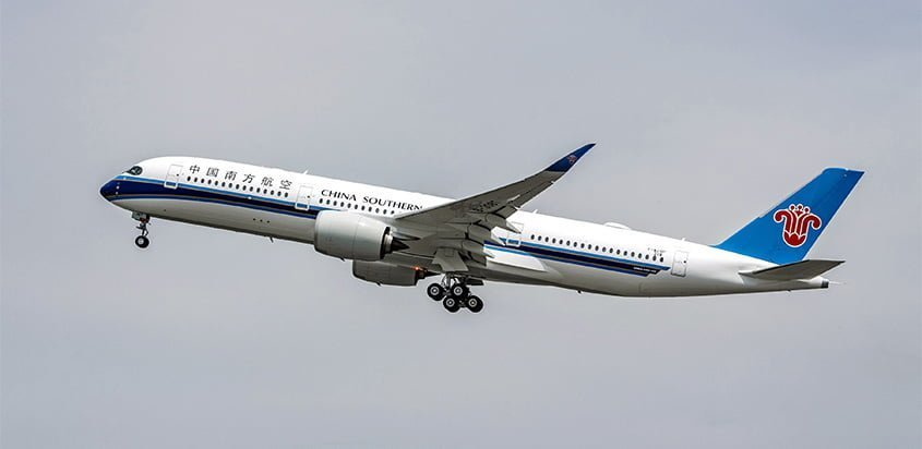 Primer Airbus A350 de China Southern Airlines.