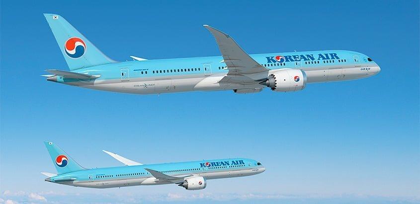 Flota de Boeing 787 de Korean Air.
