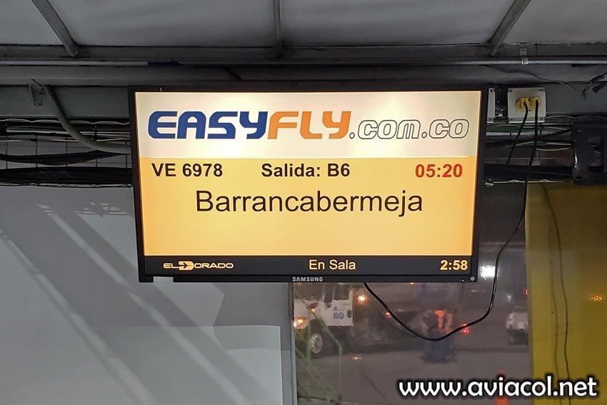 Vuelo de EasyFly entre Bogotá y Villavicencio.