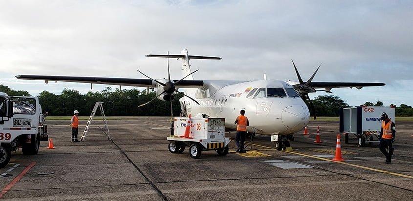 ATR 42-600 de EasyFly en el Aeropuerto Yariguíes de Barrancabermeja.