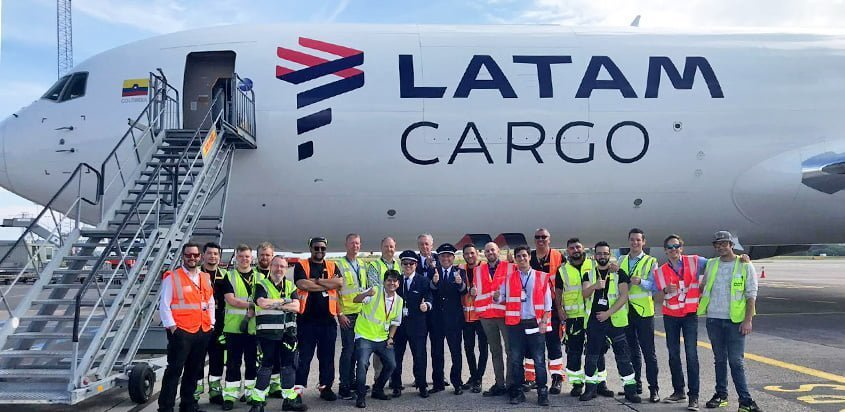 Bienvenida al primer vuelo de LATAM Cargo a Copenhague.