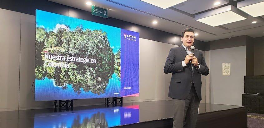 Presentación de la nueva estrategia de sostenibilidad de LATAM Airlines Colombia.