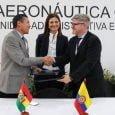 Firma del acuerdo entre Colombia y Bolivia.