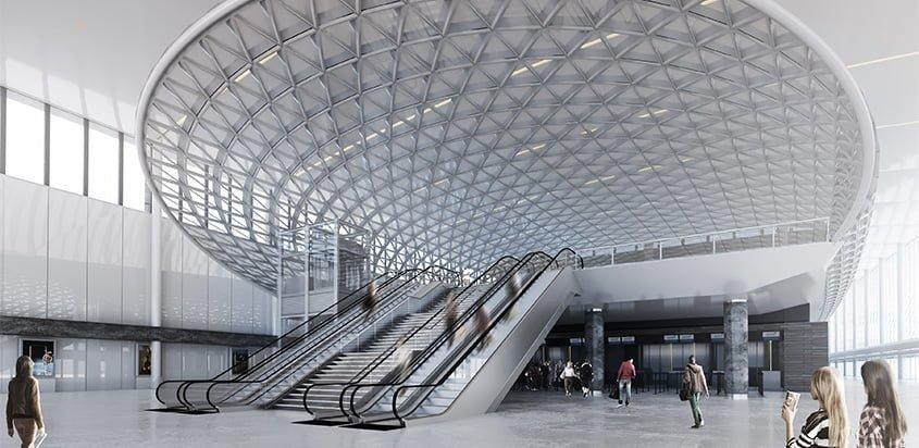 Nueva terminal del Aeropuerto Ezeiza de Buenos Aires, Argentina.